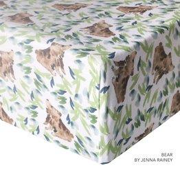 Copper Pearl Bear Premium Crib Sheet - Copper Pearl