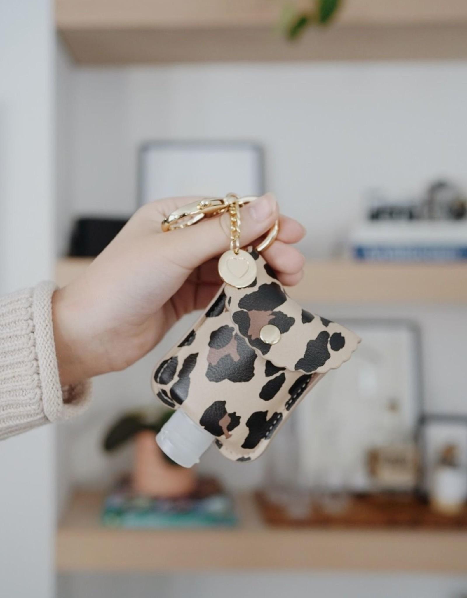 Itzy Ritzy Cute 'n Clean Hand Sanitizer Keychain - Leopard
