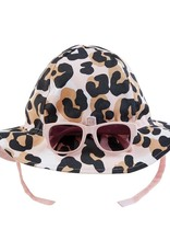 Mud Pie Leopard Sun Hat & Sunglasses Set