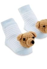Mud Pie Rattle Toe Socks Blue Dog