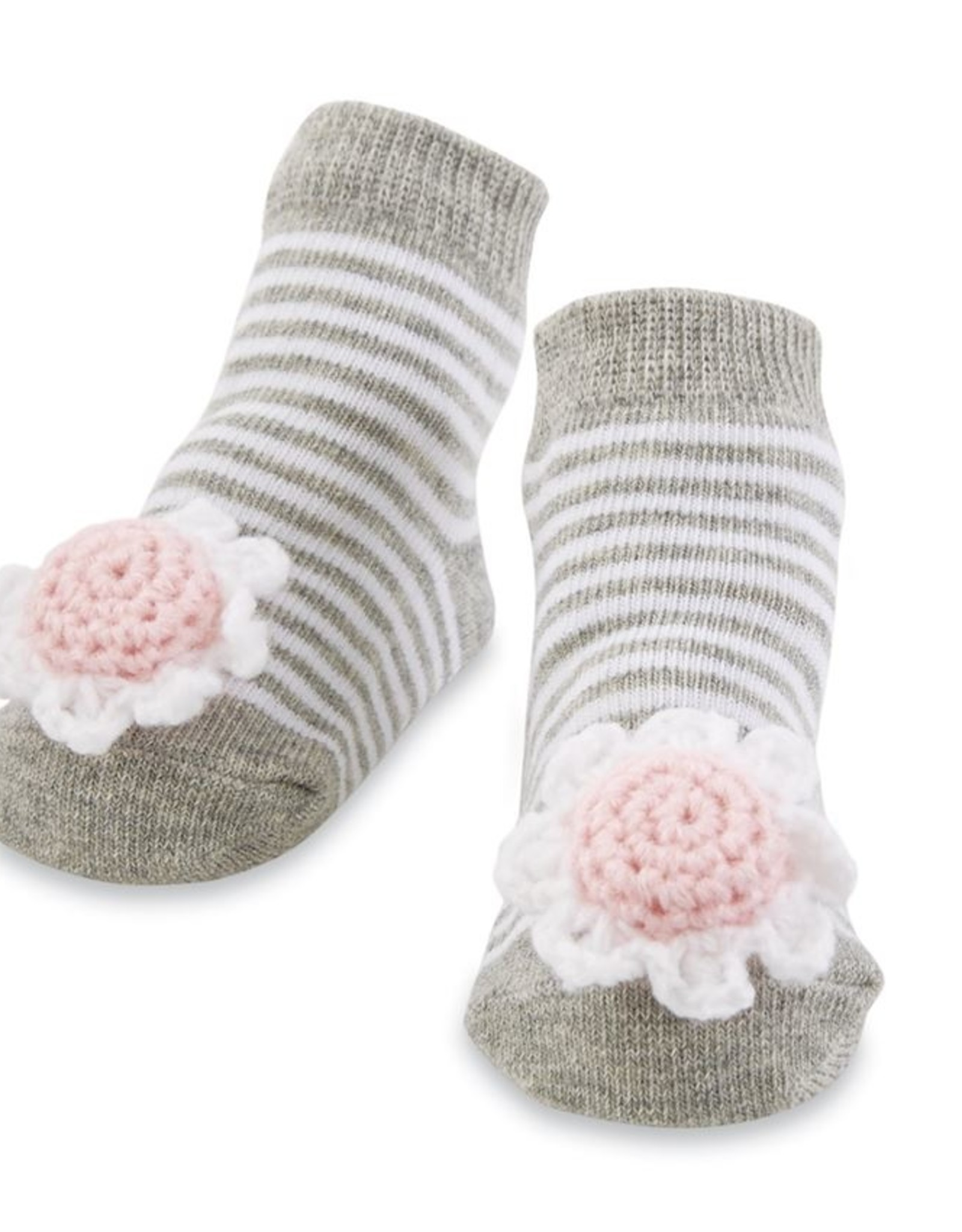 Mud Pie Rattle Toe Socks Flower