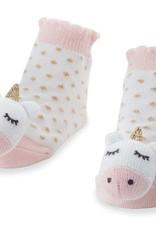 Mud Pie Rattle Toes Socks Unicorn
