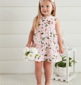 Mud Pie Magnolia Toddler Dress with Headband