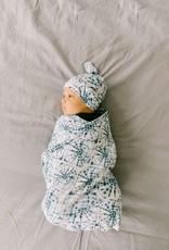 Copper Pearl Indigo Swaddle Blanket  Copper Pearl