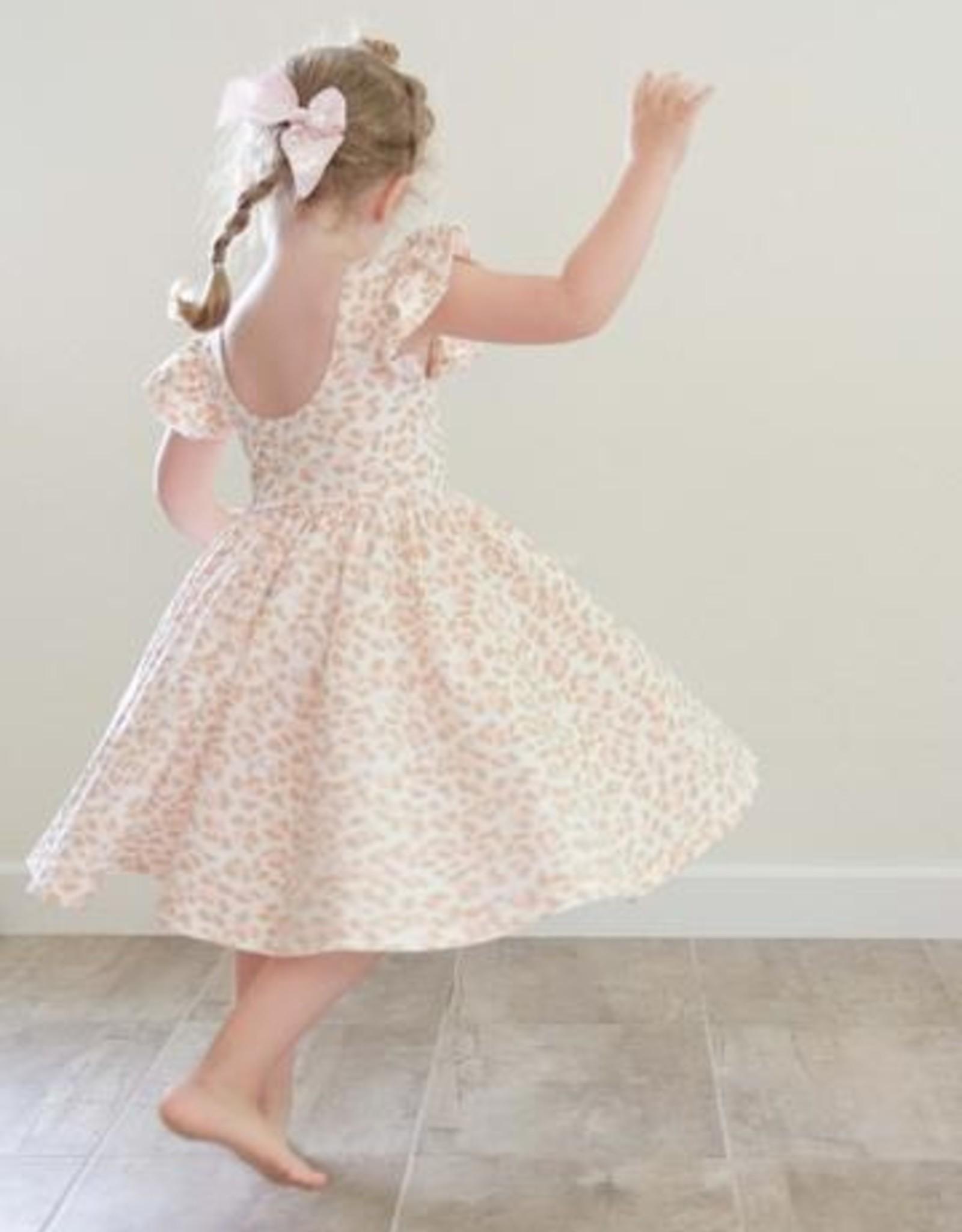 Olivia Dress in Pink Leopard