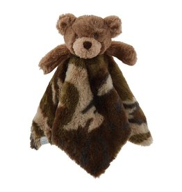 Mud Pie Camo Bear Plush Woobie