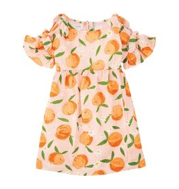 Mud Pie Orange Bow Dress - 5T