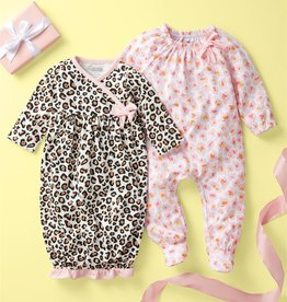 Mud Pie Leopard Watch Me Grow Set