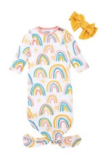 Mud Pie Rainbow Gown & Headband
