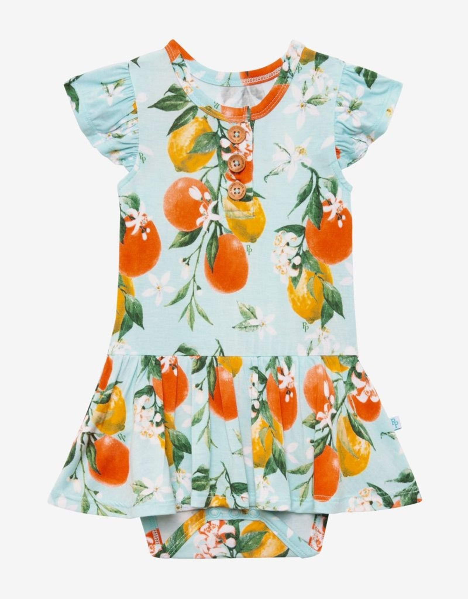 Posh Peanut Mirabella capsleeve Twirl Skirt Bodysuit