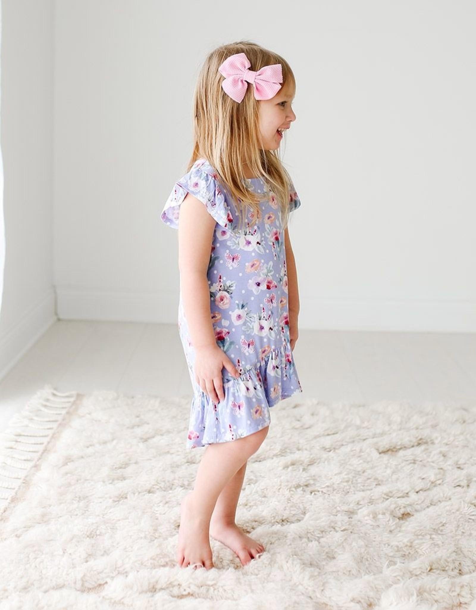 Posh Peanut Samantha Ruffled Hi-low Dress 2T