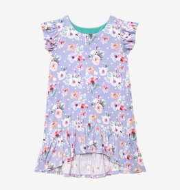 Posh Peanut Samantha Ruffled Hi-low Dress 2T