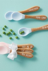 Mud Pie Pink Silicone Spoon Set