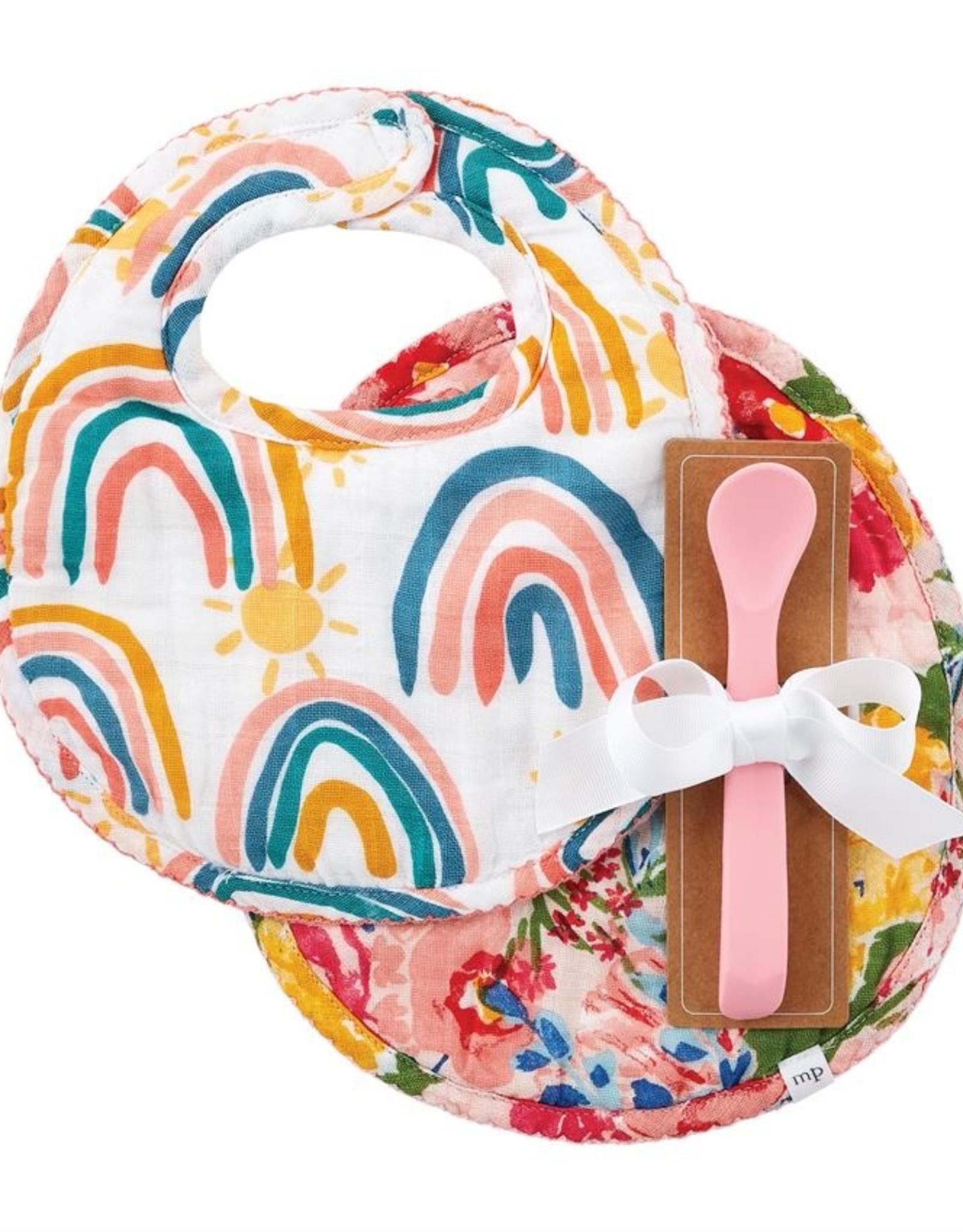 Mud Pie Rainbow Bibs & Spoon Set