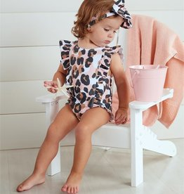 Mud Pie Leopard Swimsuit & Headband