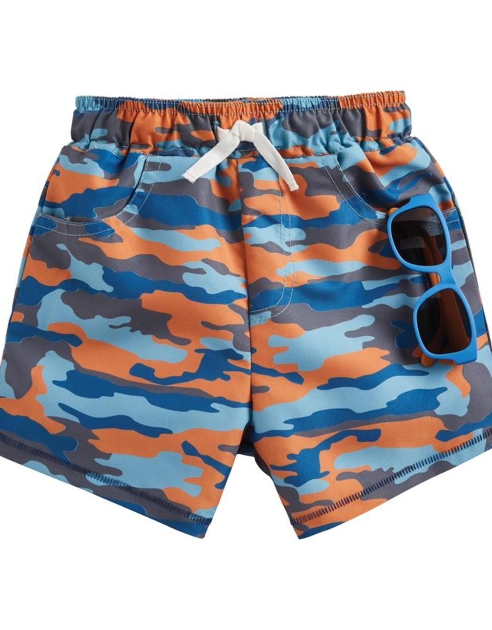 Mud Pie Camo Swim Trunks w/ Sunglasses