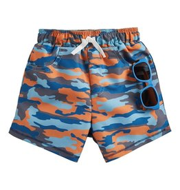 Mud Pie Camo Swim Trunks w/ Sunglasses