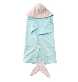 Mud Pie Mermaid Baby Hooded Towel