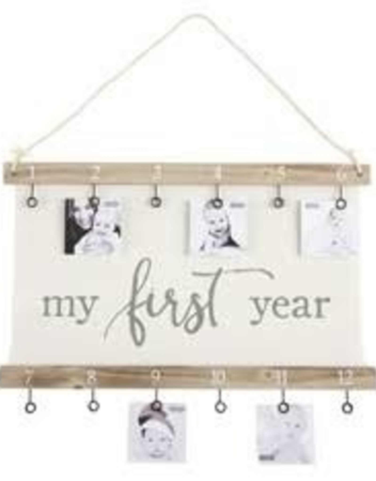 Mud Pie First Year Pictures Framed Canvas
