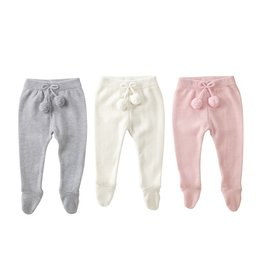 Mud Pie Knit Footed Leggings 0-3 months