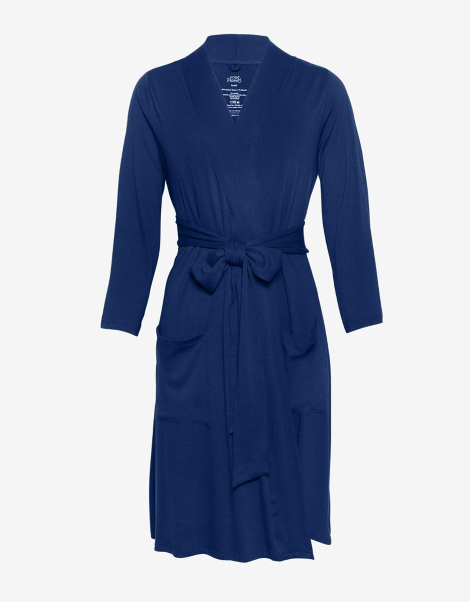 Posh Peanut Mommy Robe - Sailor Blue