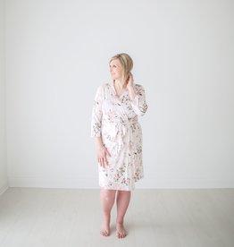 Posh Peanut Mommy Robe - Vintage Pink Rose (Medium)