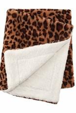 Mud Pie Leopard Faux Blanket