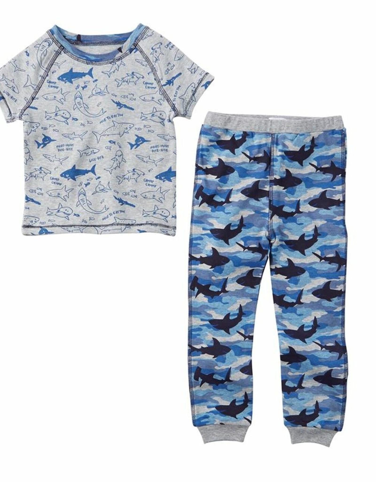 Mud Pie Shark Print short sleeve PJ's