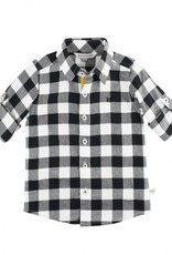 RuggedButts Black & White Plaid Button Down Shirt - Toddler