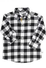 RuggedButts Black & White Plaid Button Down Shirt