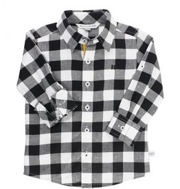 RuggedButts Black & White Plaid Button Down Shirt