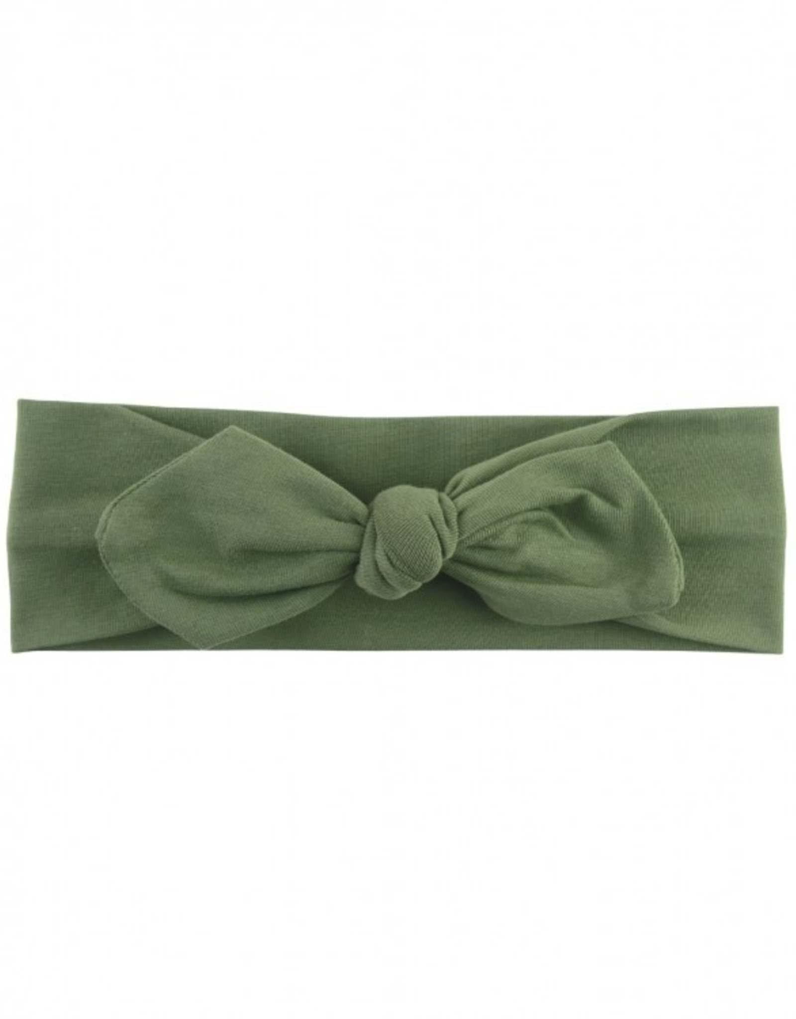 RuffleButts Moss Knotted Bow Headband