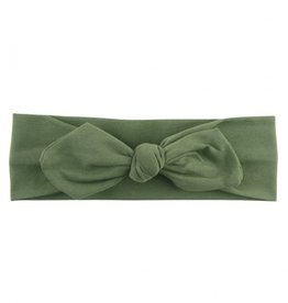 RuffleButts Moss Knotted Bow Headband