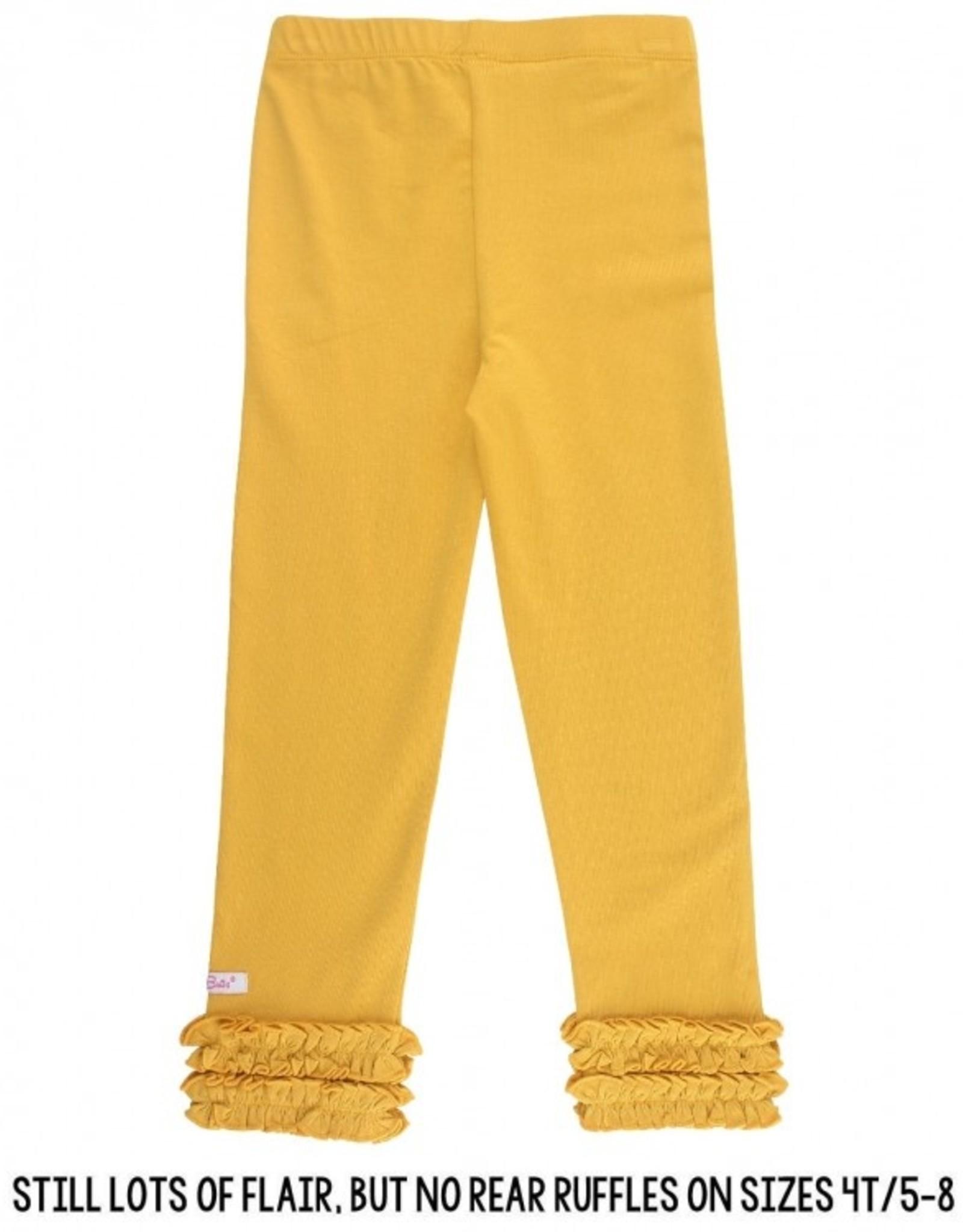 RuffleButts Golden Yellow Ruffle Leggings