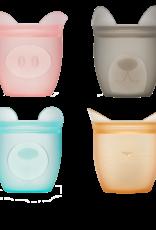 Zip Top Zip Top - Baby Snack Container 4-Set (Bear/Cat/Dog/Pig)