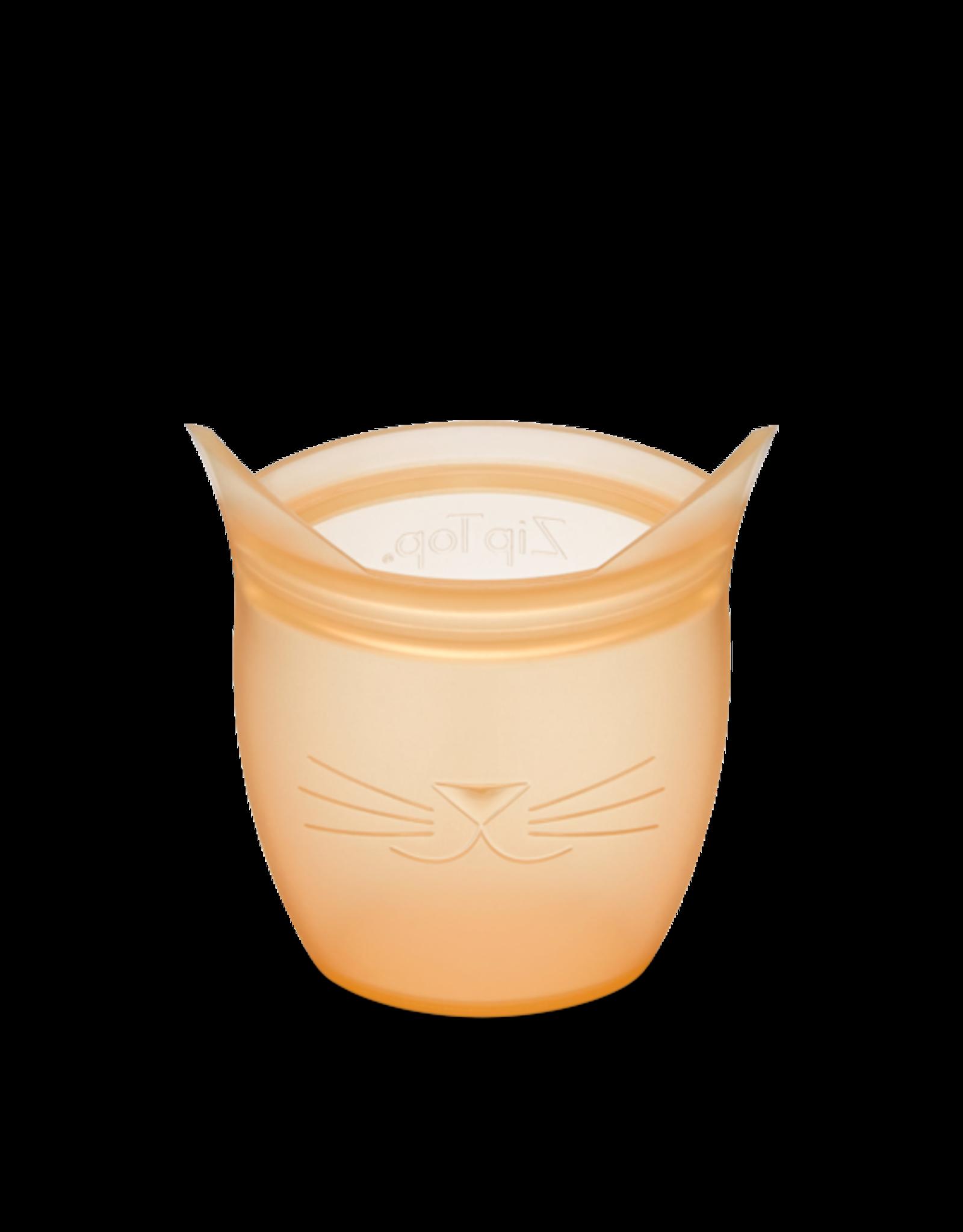 Zip Top Zip Top - Baby Snack Container - Cat - Orange