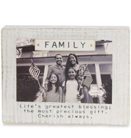 Mud Pie Family Block Magnetic Frame