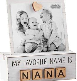 Mud Pie Nana Letter Photo Block