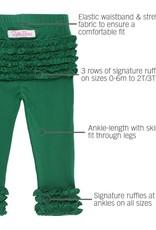 RuffleButts Pine Ruffle Leggings 0-6 months