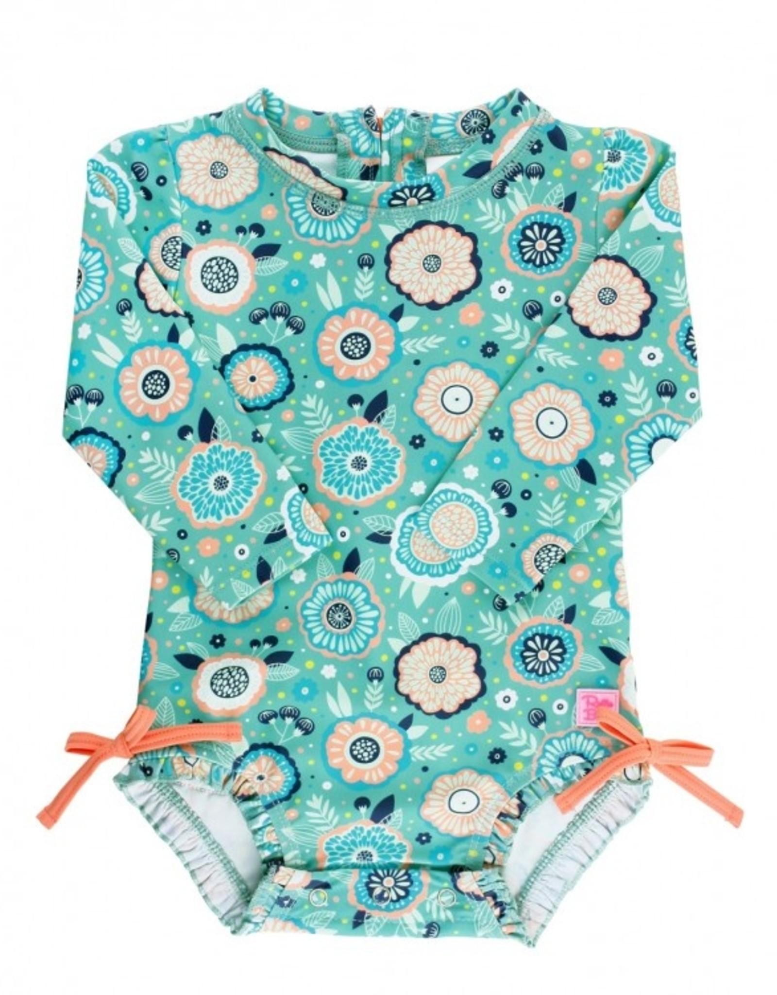 RuffleButts Island Dream 1 pc Rashguard Swimsuit