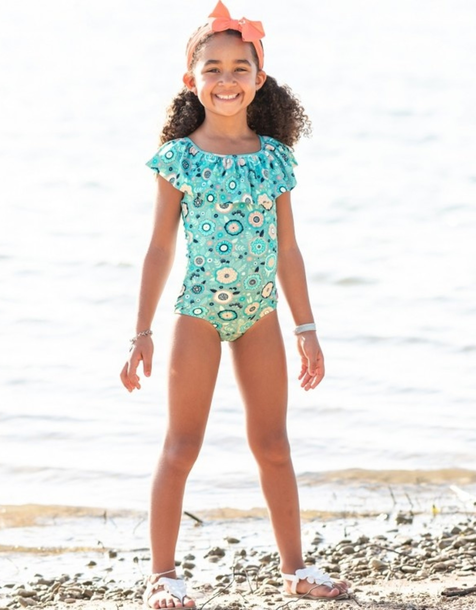 RuffleButts Island Dream Ruffle 1 pc Swimsuit