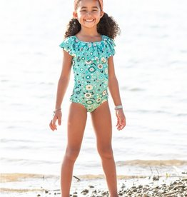 RuffleButts Island Dream Ruffle 1 pc Swimsuit