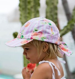 Millymook Girl's Bow Cap - Peachy