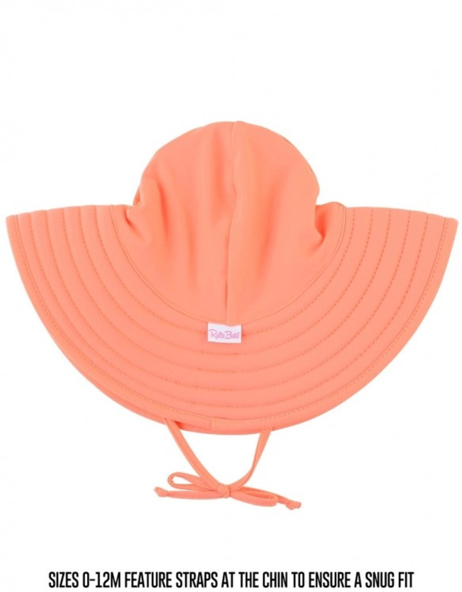 RuffleButts Coral Swim Hat 12 mos. - 2T