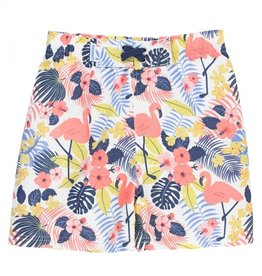 RuggedButts Tropical Flamingo Swim Trunks