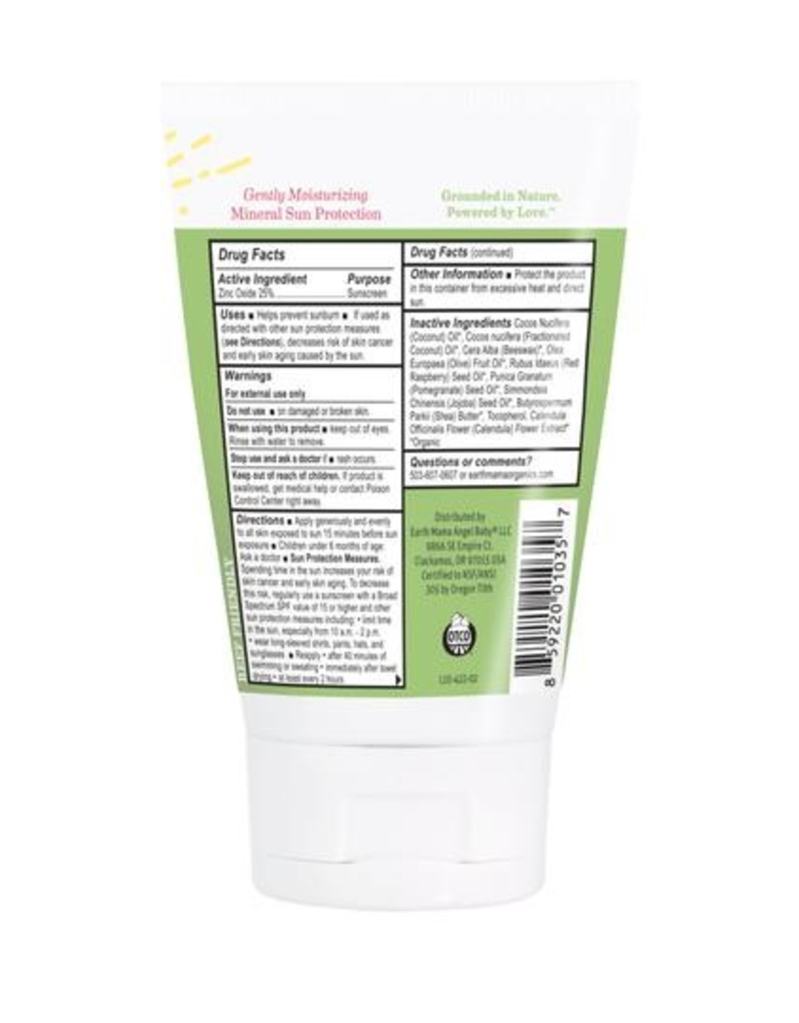 Earth Mama Organics Mineral Sunscreen for Baby
