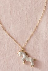 Mud Pie White Unicorn Necklace