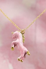 Mud Pie Pink Unicorn Necklace