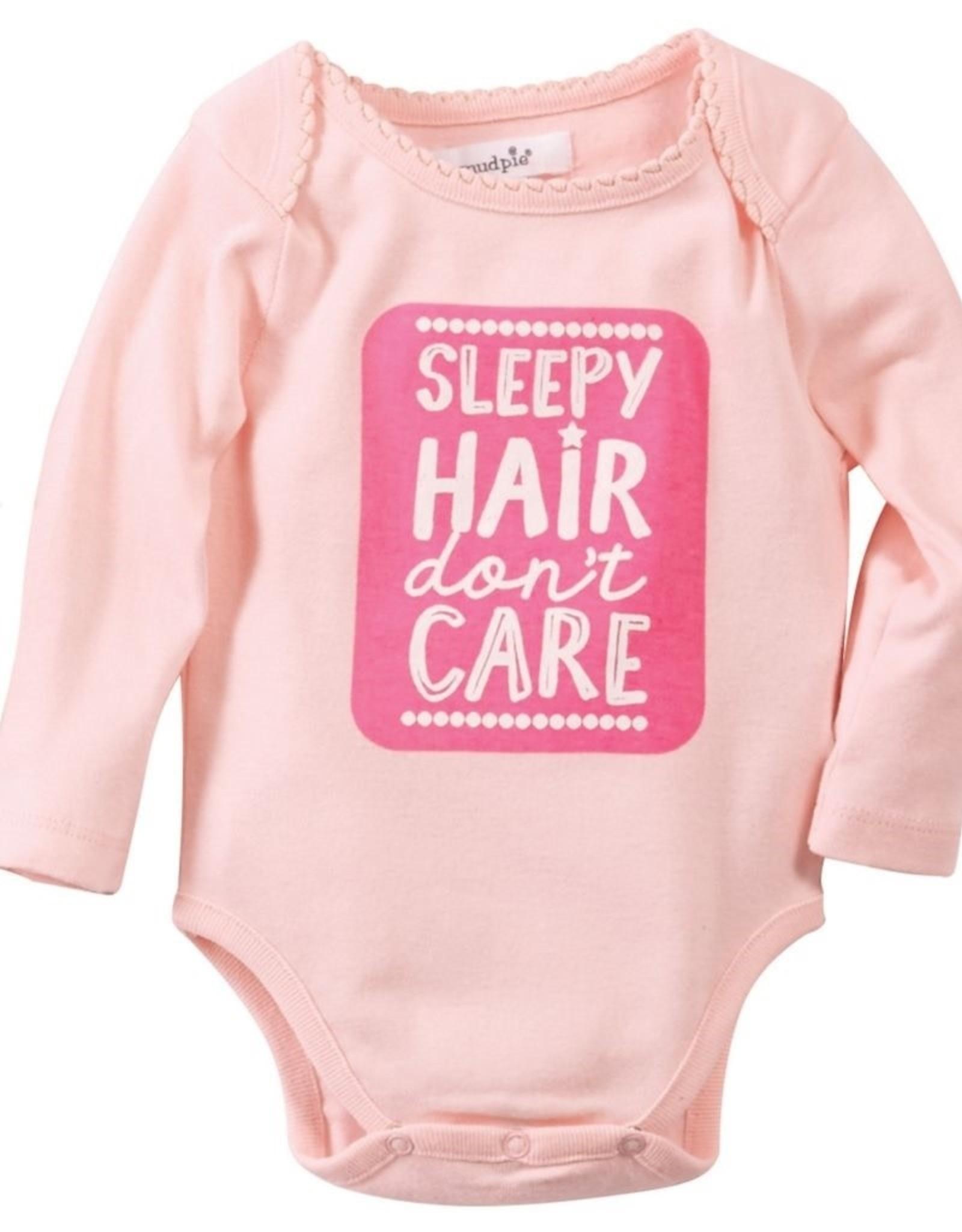 Mud Pie Sleepy Hair Girl Crawler 0-6 months