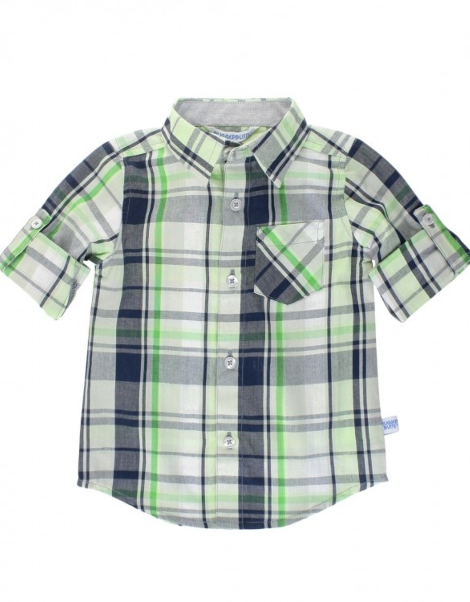 RuggedButts Reid Plaid Button Down Shirt 2T
